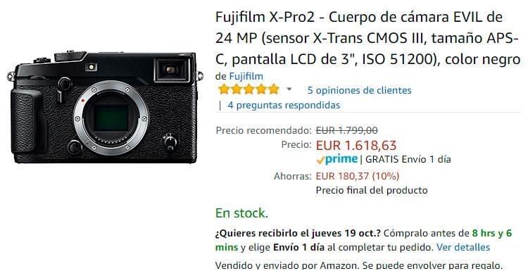 Cashback por la Fuji X-Pro2