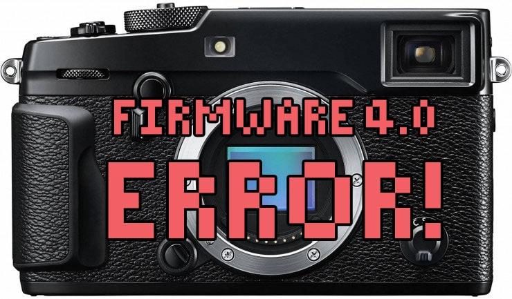 Error firmware 4.0 de la X-Pro2