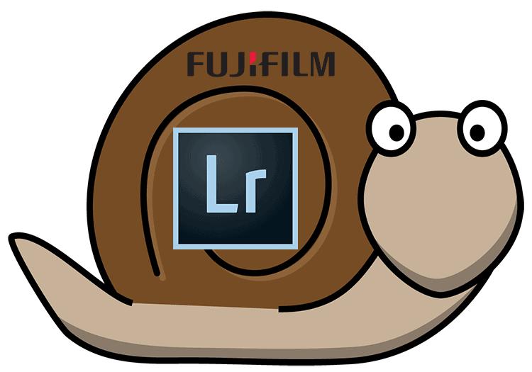 Lentitud de Lightroom con los RAFs de Fujifilm.