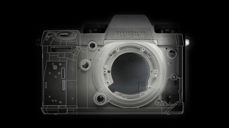 Armazón de la Fujifilm X-H1.