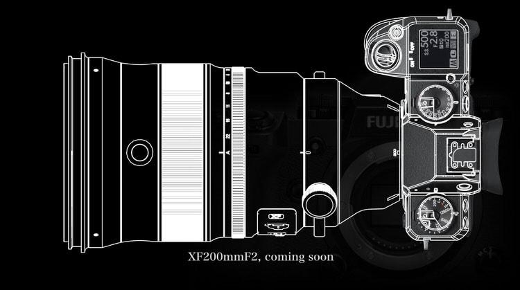 XF 200mm F2 montado en X-H1.