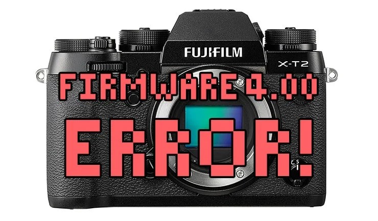 Bugs en Fujifilm X-T2 4.00.