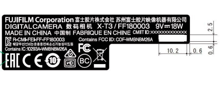 X-T3 Made in China