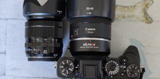 Adaptador Viltrox EF-FX1 con Canon EF 50mm f/1.8 STM.