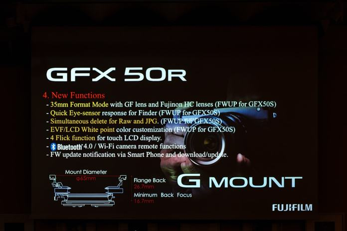 GFX 50R ficha.