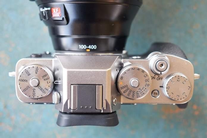 Fuji X-T3 vista superior.