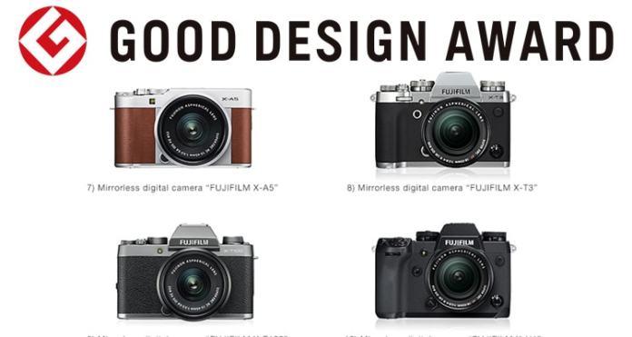 Varias cámaras Fujifilm  premiadas por Good Design Award 2018.