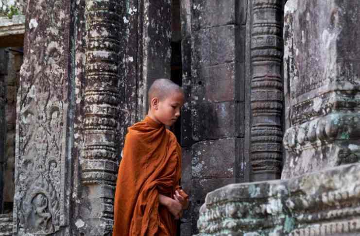 """Monje en Angkor"" por Cristina Ariza.  Fujifilm X-T2 + XF 18-55mm f/2.8-4 R LM OIS."