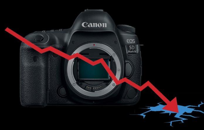 Bajada de ventas en cámaras réflex.