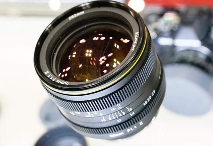 Kamlan 50mm f/1.1 mark II para Fuji X.