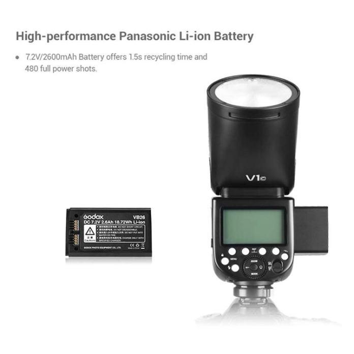 Godox V1 batería litio.