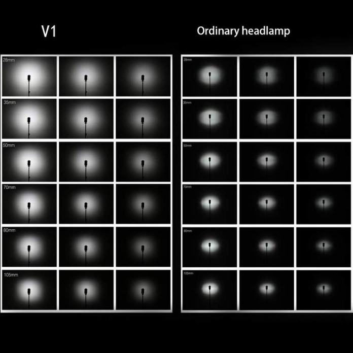 Godox V1 comparativa de luces.