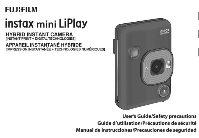Manual Fujifilm Instax Mini LiPlay.