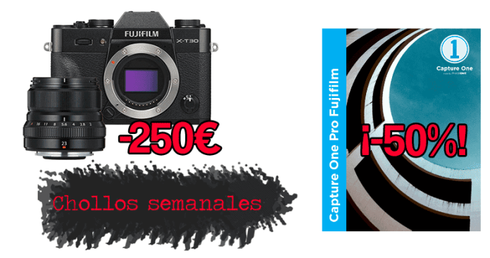Chollos semanales: X-T30, Capture One Pro Fujifilm