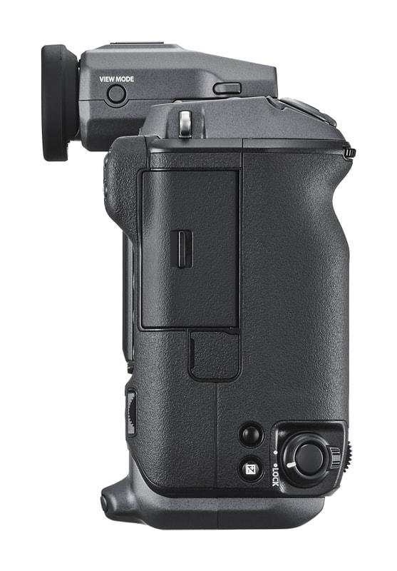 Fujifilm GFX 100 lateral.