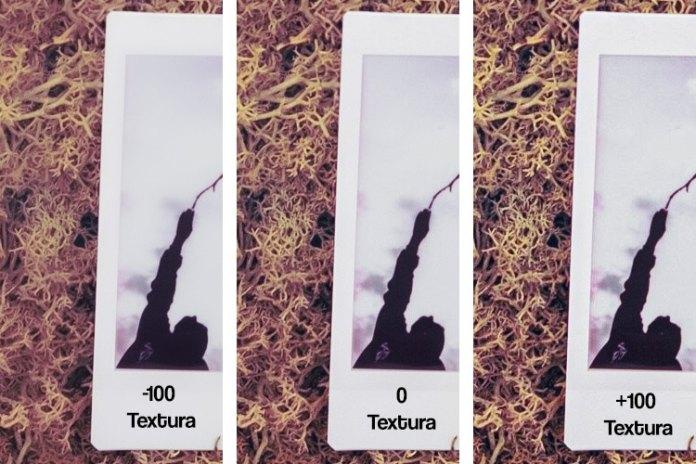 Efecto de la aplicación de textura en Lightroom Classic CC 8.3.