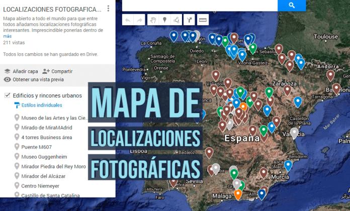 Mapa colaborativo de localizaciones fotográficas.