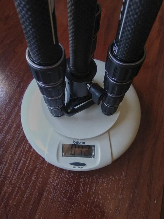 Peso del trípode K&F Concept TC2335