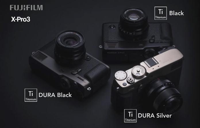 La Fujifilm X-Pro3 estará disponible en tres variantes de colores, dos de ellos con el recubrimiento DURA extra-resistente a arañazos.