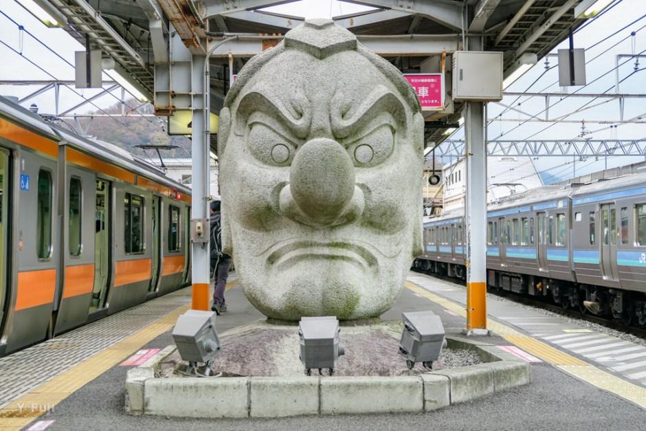 JR高尾駅天狗像