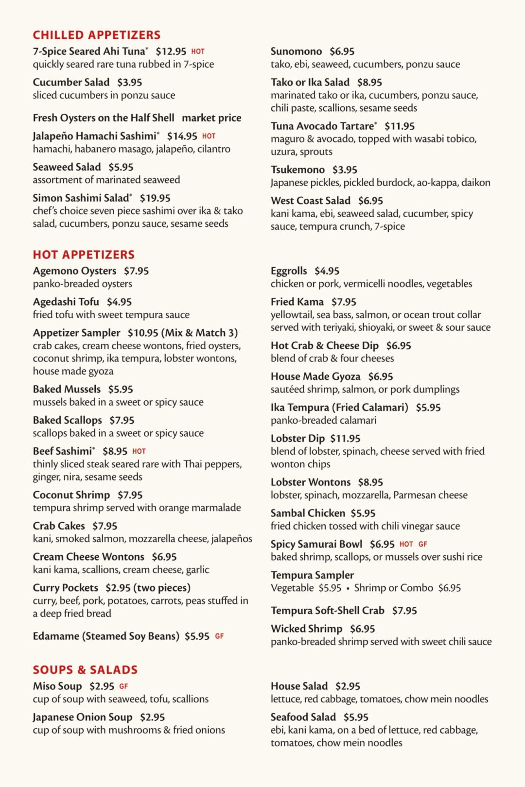 Fuji Sushi Bar Full Menu - Page 2