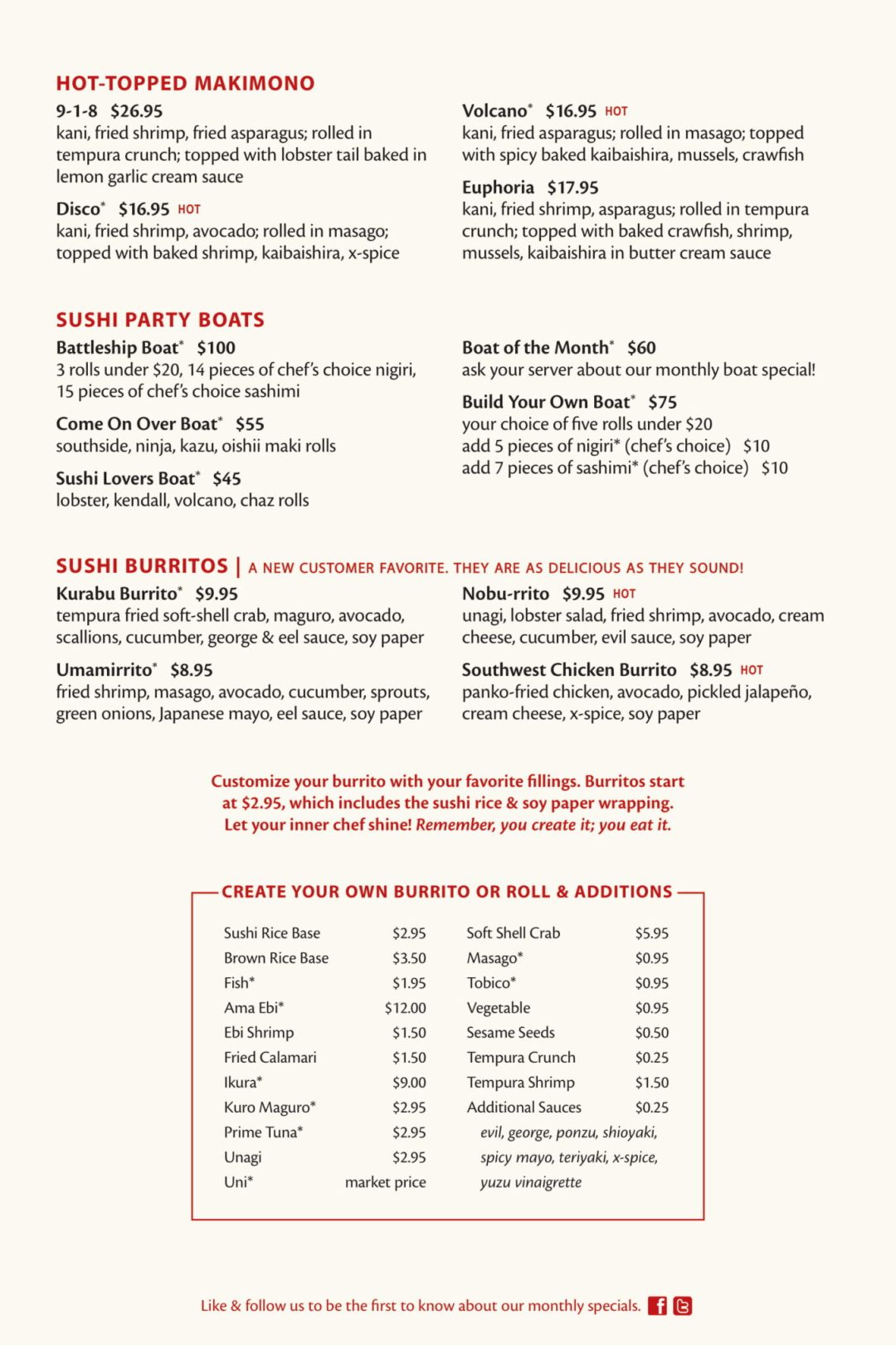 Fuji Sushi Bar Full Menu - Page 5