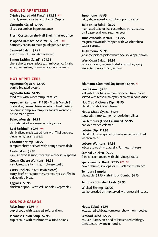 Fuji Sushi Bar Full Menu - Page 2