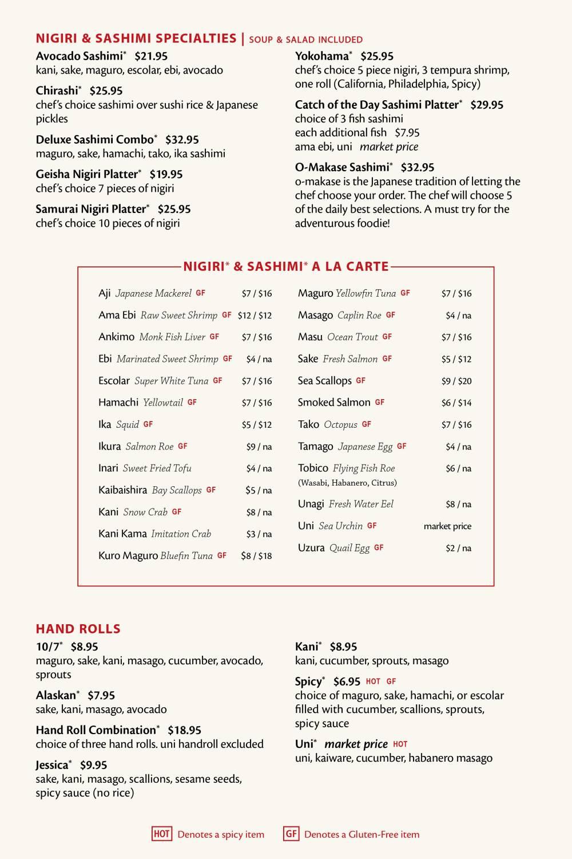 Fuji Sushi Bar Full Menu - Page 3