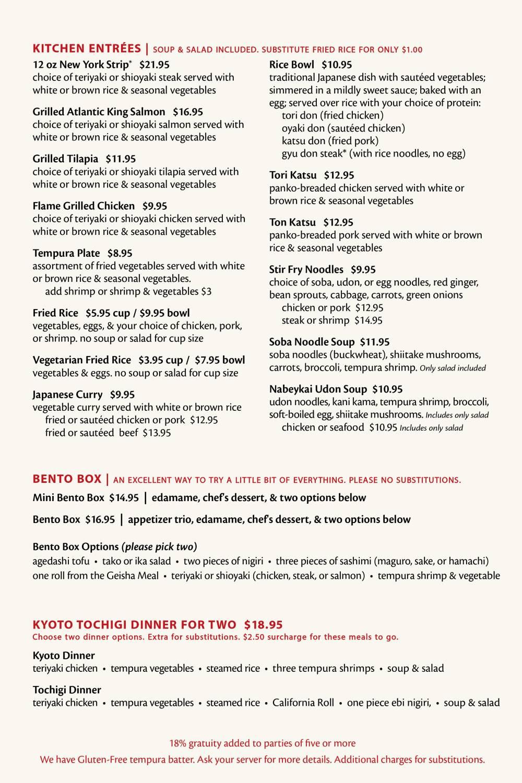 Fuji Sushi Bar Full Menu - Page 6