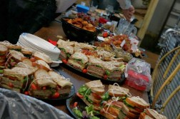 Sandwiches at the Night Shift Barrel Society Party