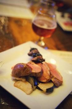 duck | duck breast, roasted black radish, prunes, duck hearts, watermelon radish