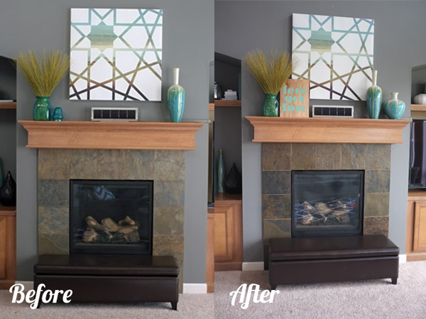 sprucing up the fireplace