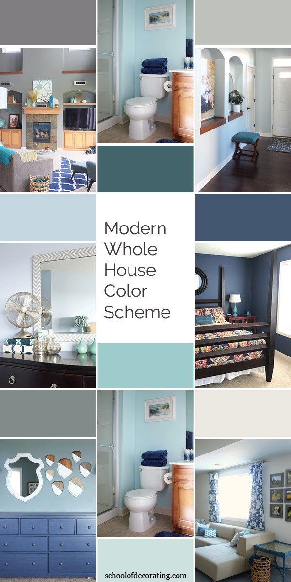 Modern Whole House Color Scheme - School of Decorating