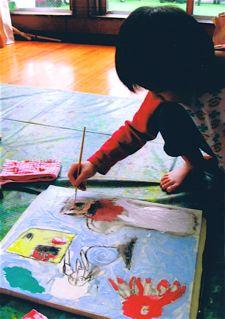 workshop midori 保育園・絵画の時間