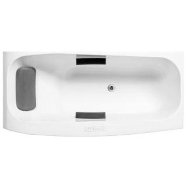 Comfortable Bath 1.7米嵌入式泡泡浴缸含灰色按摩浴枕