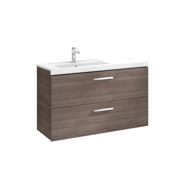 Roca Prisma Unik (base unit with two drawers and left hand basin)