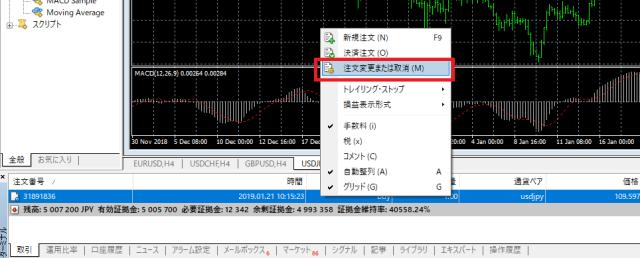 MT4 IFD OCO IFO 注文方法