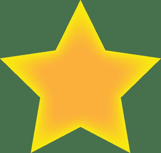 星(内側に光彩)