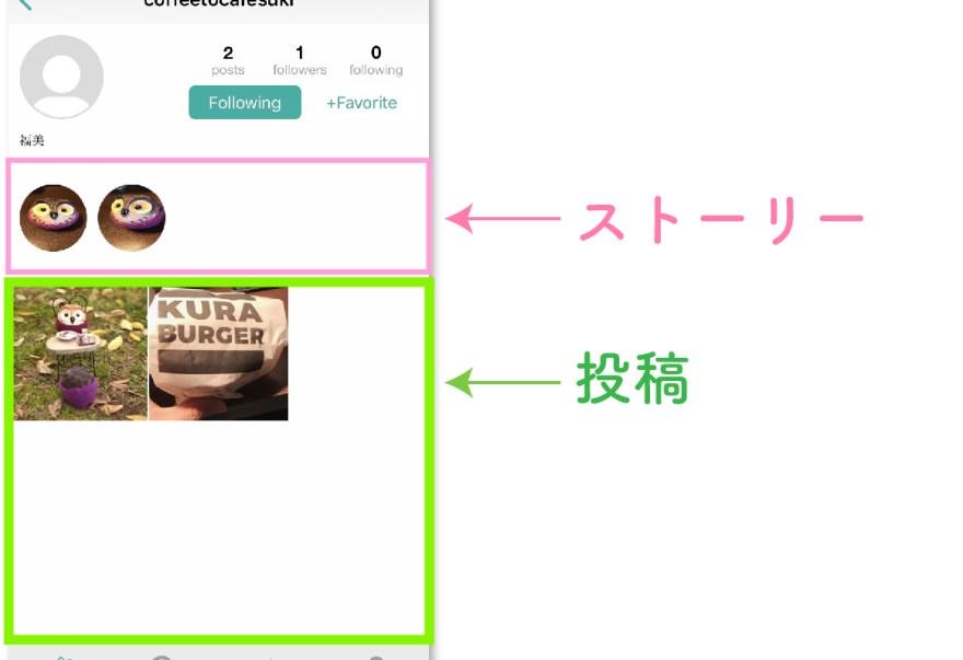 ユーザーアカウント画面