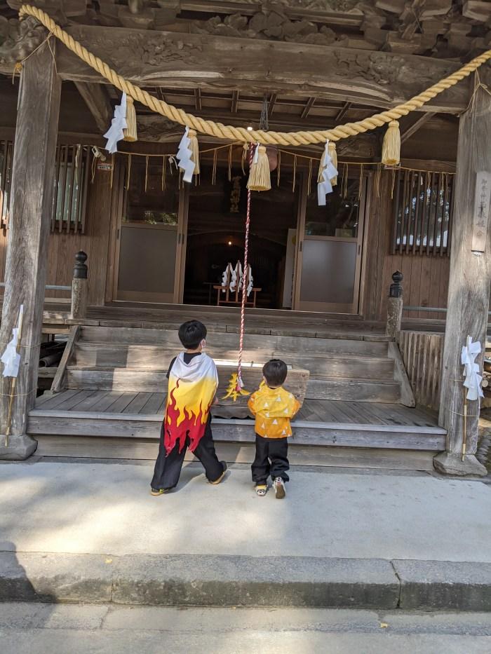 鬼滅の刃の聖地,溝口竈門神社,煉獄