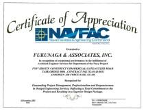 2007 NAVFAC Certificate of Appreciation