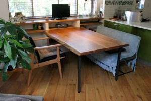 無垢手作りダイニングテーブル