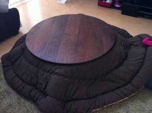ブラックウォールナット円形炬燵天板
