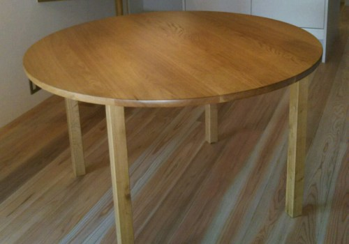 無垢丸テーブル4本脚