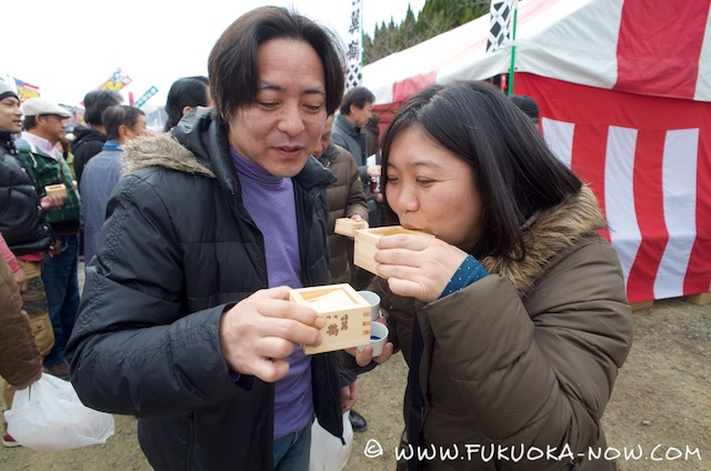 Drinking from the Traditional Masu