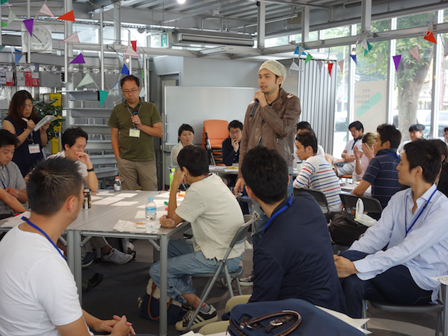 Taken at an 'Inspire Workshop': here, research is presented, and 'Ideation' begins, with discussion as to where a business opportunity might lie.