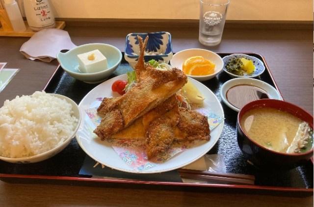 六本松食堂鯵フライ