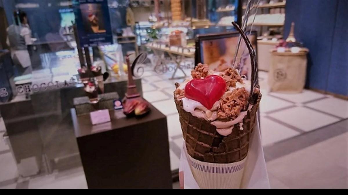 チョコレート店のアイスクリーム・ジェラート