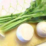 青菜とちりめんじゃこ炒め物①