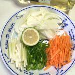 生サーモンと野菜のブレゼトップ調理①
